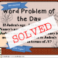 Detailed Solution for Word Problem of the Day
