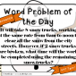 Word Problem of the Day